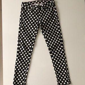 Kate Spade Apple print Skinny Jeans. Size 24